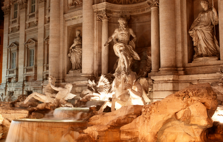 Trevi Rome by night