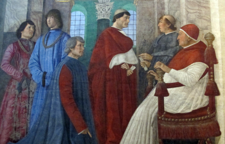 Painting showing pope Sixtus IV